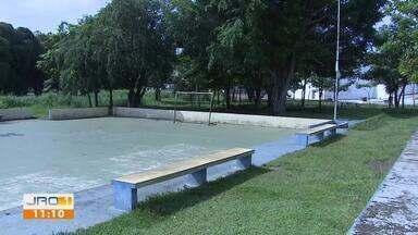 Quadro comunitário no bairro Marechal Rondon - Moradores por pedem iluminação pública.