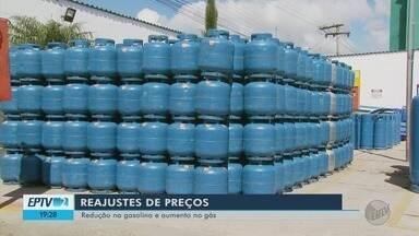 Gás de cozinha sobe, mas preço de combustíveis caem no Sul de Minas - Gás de cozinha sobe, mas preço de combustíveis caem no Sul de Minas