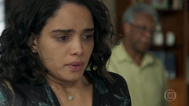 Eliseu e Paulina conversam sobre Barão - Paulina diz não acreditar que Barão possa largar a vida do crime, mesmo se conseguir ser inocentado.