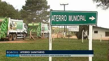 Prefeitura anuncia mudanças na contratação de empresas para gerenciar lixo em PG - Município tem até janeiro de 2019 para fechar o aterro do Botuquara.