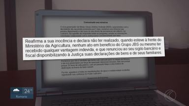 Justiça autoriza soltura de vice-governador de MG preso em Uberlândia - Antônio Andrade (MDB) foi detido em fazenda em Vazante pela Polícia Federal alvo de uma operação que é um desdobramento da Lava Jato e investiga um suposto esquema de corrupção no Ministério da Agricultura durante o governo da presidente Dilma Rousseff (PT).