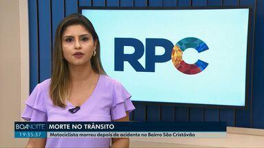 Motociclista morre em acidente em Cascavel - Batida entre moto e carro aconteceu no bairro São Cristóvão.