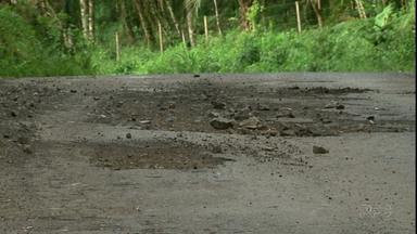 Motoristas reclamam de estrada do Guairacá - Eles pedem melhorias no local.
