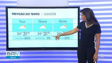 Previsão do tempo: Salvador tem possibilidade de chuvas isoladas durante a semana - Confira o mapa com as temperaturas para esta terça-feira (13).