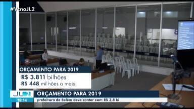 Prefeitura de Belém deve contar com R$3,8 bilhões para executar obras e serviços - Câmara foi quase vazia para a sessão que discutiria o orçamento municipal.