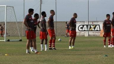 CRB treina para jogo contra o Londrina, do Paraná, pela Série B - Partida pode livrar o time da zona de rebaixamento.