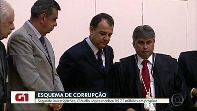 Segundo investigações, Cláudio Lopes recebeu R$ 7,2 milhões em propina - Investigações do Ministério Público Estadual calculam que o ex-procurador-geral do Estado, Cláudio Lopes, preso semana passada, recebeu mais de R$ 7 milhões em propina.