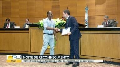 Amaerj entrega Prêmio Patrícia Acioli - Projetos de ressaltavam boas práticas se destacaram.