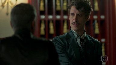 Adamastor estranha a chegada de Sampaio - O forasteiro se hospeda na pensão de Ondina