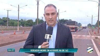 Vereador de Eldorado morre em acidente em rodovia de MS - Acidente ocorreu na tarde desta quarta-feira e provocou a morte de José Anacleto da Silva.
