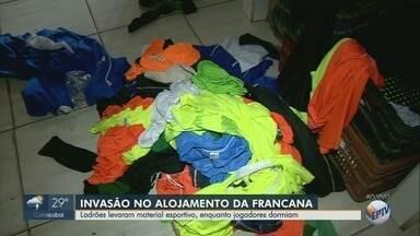 Centro de treinamento da Francana é furtado em Franca, SP - Ladrões invadiram o local enquanto os jogadores dormiam.