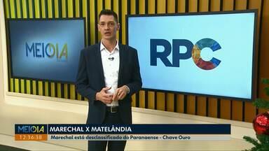Marechal perde para o Matelândia e está fora da semifinal do Paranaense - O confronto foi decidido nos pênaltis.