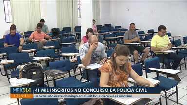 Concurso da polícia tem 41 mil inscritos no Paraná - As provas acontecem neste final de semana em Curitiba, Cascavel e Londrina.