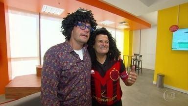 No dia do aniversário do Íbis, o grande encontro entre Fernando Rocha e Mauro Shampoo - Apresentador da Globo é especialista no Pássaro Preto e revê maior personagem da história do clube