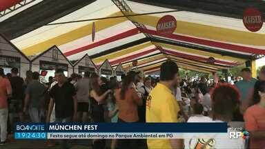 München Fest vai até domingo (18) no Parque Ambiental em Ponta Grossa - Festa começou nesta quinta-feira (15).