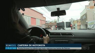 Ponta Grossa é a cidade que mais reprova nos testes de direção para tirar habilitação - Mais da metade dos candidatos à carteira de motorista reprovam no primeiro teste prático.