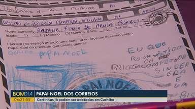 Milhares de cartinhas podem ser adotadas em agências dos Correios no Paraná - Campanha ajuda a fazer o Natal de crianças carentes mais feliz.