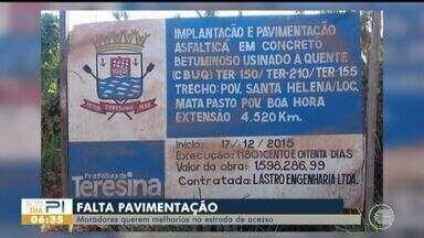 Moradores reclamam de estrada na Zona Rural de Teresina - Moradores reclamam de estrada na Zona Rural de Teresina