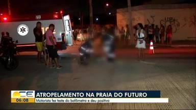 Homem morre atropelado no bairro Praia do Futuro - Ele trabalhava como dançarino nas barracas de praia e estava indo trabalhar. Polícia disse que motorista estava alcoolizado