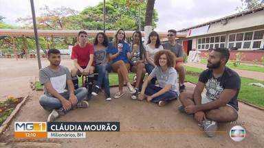 MG Móvel conhece projeto voluntário no bairro Milionários em BH - Projeto envolve professores, estudantes, pais de alunos e moradores do entorno da Escola Estadual Celso Machado, na região do Barreiro, na capital.