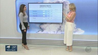 Confira a previsão do tempo para esta sexta-feira (16) em Ribeirão Preto, SP - Temperatura máxima chega aos 31°C.