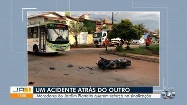 Moradores reclamam de cruzamento perigoso no Jardim Planalto, em Goiânia - Local já foi cenário de muitos acidentes, segundo moradores.