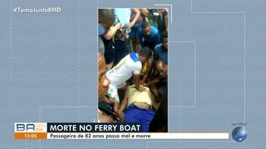 Filhos de idoso que morreu no ferry boat denunciam falta de desfibrilador na embarcação - Corpo está sendo velado e o enterro vai ser realizado na tarde desta sexta-feira (16).