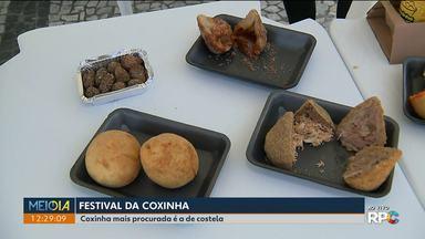 Festival da Coxinha é uma das atrações deste final de semana - A coxinha de costela é a mais procurada pelo público.