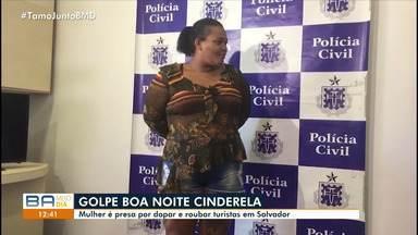 Suspeita de dopar e roubar turistas é presa em Salvador - Naiara Barbosa dos Santos, de 33 anos, tinha um mandado de prisão temporária em aberto e se apresentou à polícia.