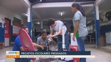 Projeto de alunos de escola municipal vai para os Estado Unidos - Protótipo usa força da gravidade e a luz do sol para bombear água