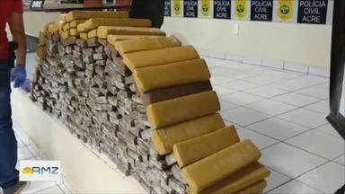 Polícia Civil apreende mais de 250 kg de drogas no Acre - Drogas estavam em um caminhão que vinhe do estado de São Paulo.