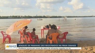 Novos ataques de piranhas são registrados em Boa Vista - Pelo menos nove pessoas foram mordidas por piranhas na Praia Grande.