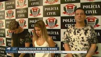 Polícia prende trio suspeito de praticar sequestros na região de Ribeirão Preto - Dois homens e uma mulher são suspeitos de crime no Parque das Artes.