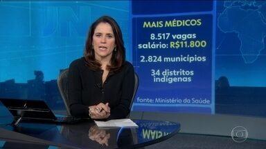Ministério da Saúde divulga edital com vagas para o Mais Médicos - O Ministério da Saúde divulgou, nesta terça (20), edital para contratar 8.517 médicos para substituir os cubanos que vão deixar o programa Mais Médicos. As inscrições começam nesta quarta (21). O salário será de R$ 11,8 mil.