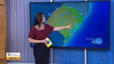 Tempo: temperaturas devem chegar aos 33ºC nesta quarta-feira (21) em algumas cidades do RS - Não há previsão de chuva para o estado.