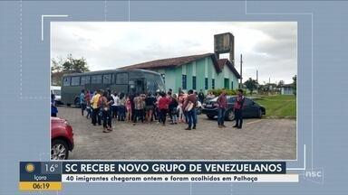 Novo grupo de imigrantes venezuelanos chega a Santa Catarina - Novo grupo de imigrantes venezuelanos chega a Santa Catarina