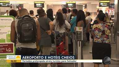 Feriado prolongado atrai turistas para Salvador - Rede hoteleira comemorou o resultado.