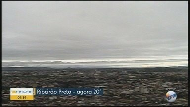 Confira a previsão do tempo para esta quarta-feira (21) em Ribeirão Preto - Temperatura máxima chega a 25°C.