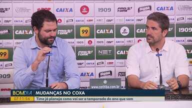 Coritiba já planeja como vai ser a temporada do ano que vem - O time vai continuar na série B.