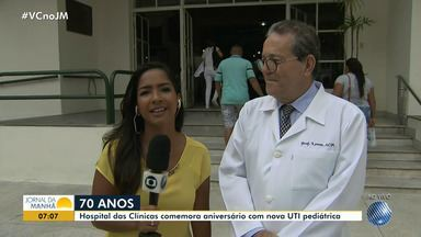 Hospital das Clínicas comemora aniversário e inaugura nova UTI pediátrica - O hospital completa 70 anos com algumas novidades; confira.