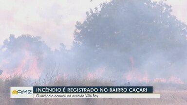 Incêndio florestal assusta moradores de Boa Vista - Corpo de Bombeiros conseguiu controlar as chamas.
