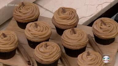 Para adoçar o sábado: Cupcake de churros com doce de leite - Aprenda a fazer esse doce maravilhoso