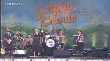 Tchê Guri e Tatiéli Bueno são atrações do Galpão Crioulo na Festa Nacional da Música (1º) - Assista ao vídeo.