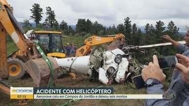 Cenipa abre investigação de acidente que matou seis em Campos do Jordão - Velório coletivo será feito em ginásio de Itapira.