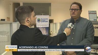 Campanha de negociação de dívidas vai até sexta-feira em Pouso Alegre - Campanha de negociação de dívidas vai até sexta-feira em Pouso Alegre