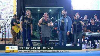Igreja promove sete horas de louvor, com música e dança em Santarém - Evento foi promovido pelo Ministério Internacional da Restauração.