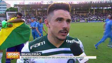 Palmeiras é campeão brasileiro pela décima vez - Verdão vence o Vasco em São Januário e conquista título com uma rodada de antecedência.