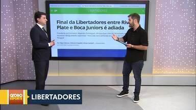 Final da Libertadores é adiada - Boca Juniors pede e Conmebol anuncia adiamento da decisão. Nova data sai na terça-feira. (27/11)