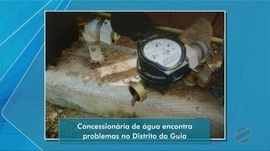 Concessionária de água encontra problemas no Distrito da Guia - Concessionária de água encontra problemas no Distrito da Guia.