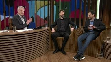 Bial abre o programa sobre 'Escola Sem Partido' - Ele conta com o cientista político Fernando Schüler e o jornalista Antônio Gois